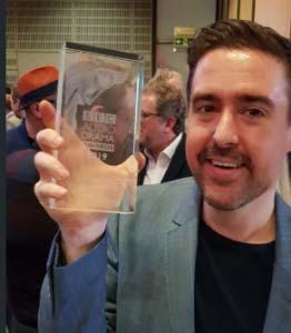 Rob Valentine with BBC award