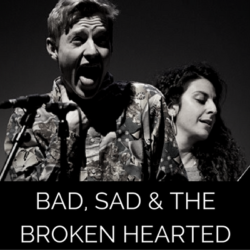 Photots from the live recording of audio drama The Bad The Sad and The Broken Hearted by Wireless Theatre