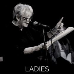 Photots of the live recording of audio comedy Ladies starring Alison steadman from Wireless Theatre