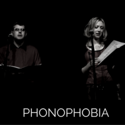 Photots from the live recording of Phonophobia audio drama from Wireless Theatre