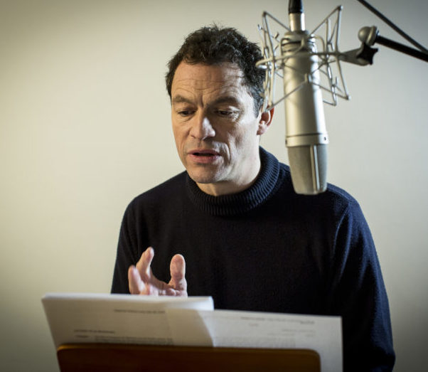 Dominic West recording with WTC for Audible UK