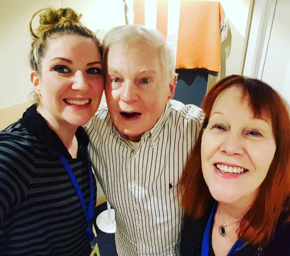Sir Derek Jacobi with Mariele Runacre Temple and Cherry Cookson