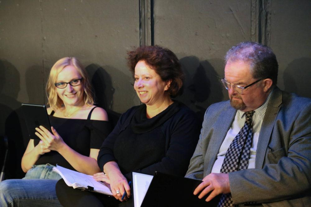 Jessica Dennis, Rachel Atkins and David Timson