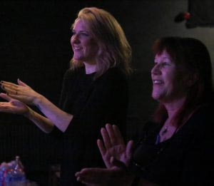 Cherry Cookson with Wireless Theatre founder Mariele Runacre Temple