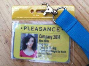 Nina's Edinburgh Festival pass