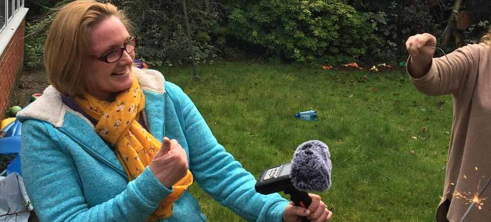 Sarah Golding on Location with Sparklers
